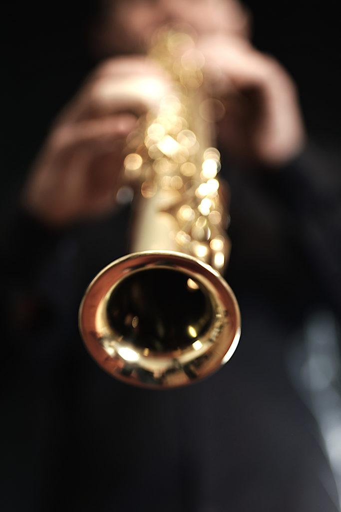 Jean François Casaurang, Photographe de musiciens dans le Gard, l'Hérault, le Vaucluse et les Bouches du Rhône, le Saxophone Soprano en Gros Plan